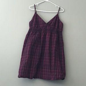 Purple Plaid tank top dress - Converse size L